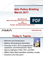 AMIA Public Policy Briefing March 2011