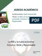La RSE y la nueva economía inclusiva, verde y responsable - PAULO ITACARAMBÍ