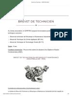 Brevet de Technicien – CERFITEX-MALI