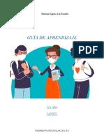 Guía de aprendizaje 1er año.Abril 2021