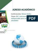 RSC instrumento indispensable para sociedades saludadbles - NELSON NÚÑEZ