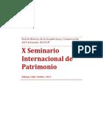 X Seminario Internacional de Patrimonio
