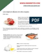 Lista completa de alimentos de la dieta cetogénica K