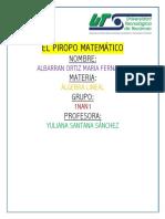 ENSAYO- EL PIROPO MATEMÁTICO