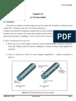 Chapitre IV FHC-RDM Torsion Simple