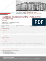 Master 2 Droit notarial (Formation continue)