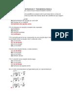 Lista de Exercício 4 - TERMOQ