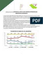 25 Junio Ocupacion de Camas de Uti Argentina