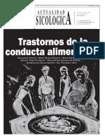 TRANSTORNOS DE LA COONDUCTA ALIMENTARIA