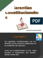 GARANTIAS CONSTITUCIONES