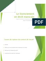 Le licenciement en droit marocain