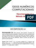 04 - Decomposição LU e Método de Cholesky (1)