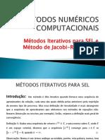 05 - Métodos Iterativos para SEL e Método de Jacobi-Richardson