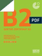 Deutsch Uebung Test b2 2 Goethe Zertifikat Pruefung
