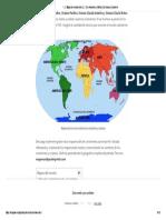 ▷【 Mapa de continentes 】» Con Nombres _ Mudo _ En blanco _ Imprimir