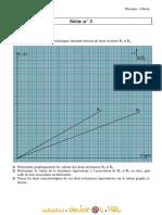 Série d'exercices  N°3 - Physique Chimie- 2ème Sciences (2010-2011) Mr Adam Bouali