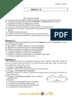 Série d'exercices  N°4 - Physique Chimie - 2ème Sciences (2010-2011) Mr Adam Bouali