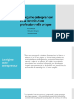 Le régime entrepreneur et la contribution professionnelle unique (2)