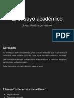 El ensayo académico