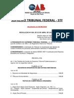 Custas Judiciais - Supremo Tribunal Federal - STF