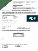 Avaliação (Equação do 2 grau)