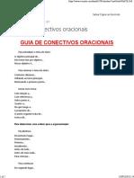 Guia de conectivos oracionais