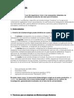 Biotecnologia - Resumen