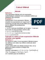 Calcul littéral1