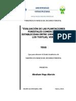Evaluacion de plantaciones forestales