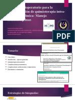 Quimioterapia intraarterial oftalmica manejo multidisciplinario