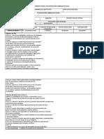 Formato Del Pca Del Currículo de e c y Aaa