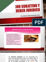 DERECHO SUBJETIVO Y DEBER JURIDICO