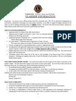 Barrow Lions Club Scholarship Application Form