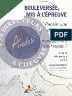 Livret Journeìes Direction Deìc 2021