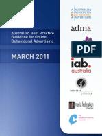 Australian Best Practice Guideline for Behavioural Advertising