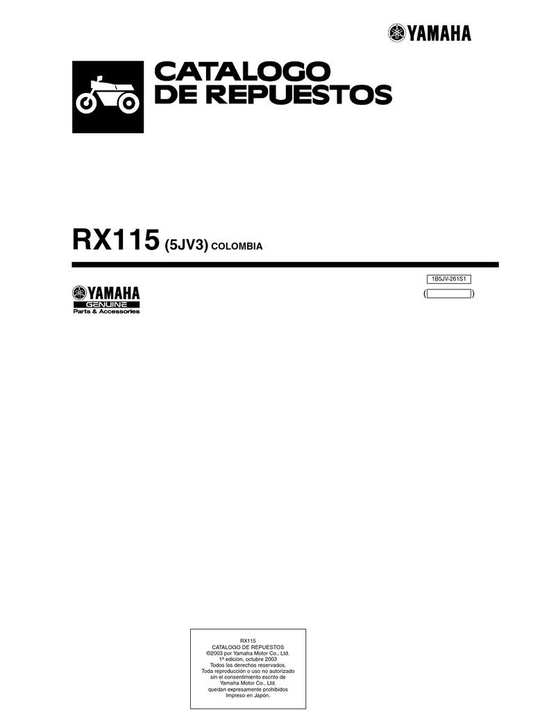 yamaha RX115-5JV3-2005-2006