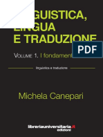 Linguistica Lingua e Traduzione Vol 1 I