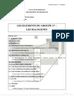 Les Elements Du Groupe 17 2019. 2020 Cours de Chimie Minerale Dr Daoud 2eme Annee Pharmacie