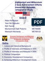 Economic Development and MDG Achievement Efforts in Indonesia and Malaysia
