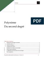 Fiche Math Polynome Du Second Degré