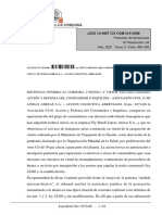 Sentencia Flybondi  - Justicia de Córdoba