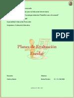 Act #4. Planes de Evaluación