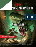 Compendium Monstrueux - Creatures - 28-10-2018