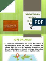 Aula 01 de Pneumatologia e Teologia Pentecostal em 2021 Segunda-feira PDF