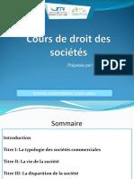 Cours de Droit Des Societes Pour Les Etudiants