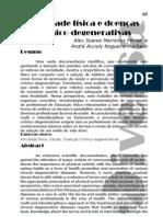 atividade fisica e doença cronico-degenerativas