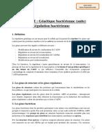 Chapitre 6-2 Génétique bactérienne (suite)