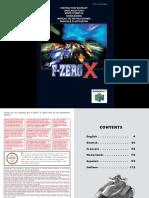Manual Nintendo 64 F-Zero X