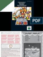 Manual Nintendo 64 Paper Mario
