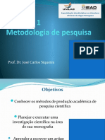 UNIDADE 1 - METODOLOGIA DE PESQUISA - JCSS
